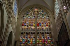 Schizzi sulla finestra di vetro alla cattedrale dei salvatori della st (sal di Sint immagine stock libera da diritti