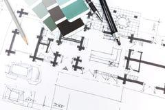 Schizzo architettonico illustrazione di stock