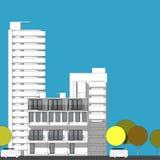 Schizzo architettonico astratto del disegno, città Scape Immagine Stock Libera da Diritti