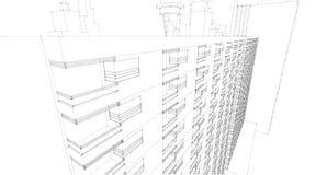 Schizzo architettonico astratto del disegno, illustrazione Fotografia Stock Libera da Diritti