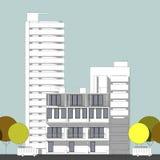 Schizzo architettonico astratto del disegno, illustrazione Immagine Stock