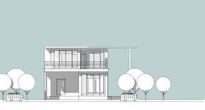 Schizzo architettonico astratto del disegno, illustrazione Fotografie Stock