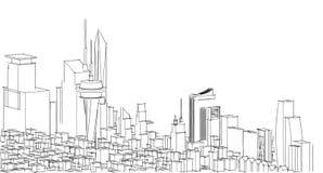 Schizzo astratto del disegno, illustrazione Fotografia Stock