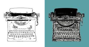 Schizzo d'annata di Digital della macchina da scrivere Immagini Stock Libere da Diritti