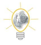 Schizzo del concetto di idea con le note di carta Fotografia Stock Libera da Diritti