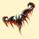 Schizzo del demone di volo royalty illustrazione gratis