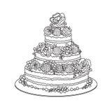 Schizzo del dolce di celebrazione illustrazione vettoriale