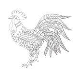 Schizzo del gallo Fotografie Stock