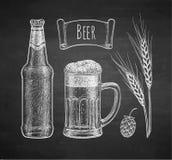 Schizzo del gesso di birra Fotografia Stock Libera da Diritti