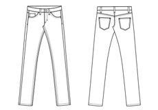 Schizzo del modello delle formiche dei pantaloni dei jeans del denim Immagine Stock