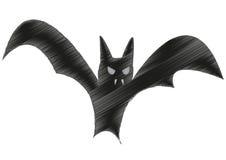 Schizzo del pipistrello di Halloween Fotografie Stock Libere da Diritti