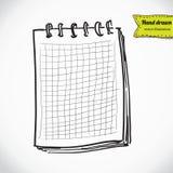 Schizzo del taccuino Illustrazione di vettore con disegnato a mano Illustrazione di Stock