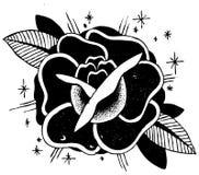 Schizzo del tatuaggio delle rose Fotografie Stock Libere da Diritti