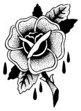 Schizzo del tatuaggio delle rose Fotografia Stock