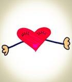 Schizzo dell'abbraccio del cuore Fotografia Stock