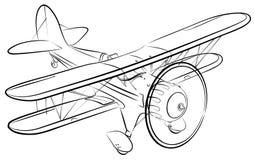 Schizzo dell'aeroplano illustrazione vettoriale