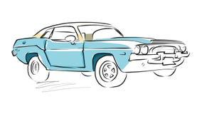 Schizzo dell'automobile del muscolo, disegno di vettore Immagine Stock Libera da Diritti