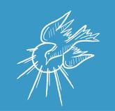 Schizzo dell'icona di Spirito Santo e linea arte Fotografia Stock Libera da Diritti