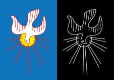 Schizzo dell'icona di Spirito Santo e linea arte Fotografie Stock