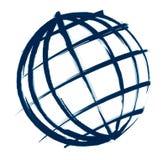 Schizzo dell'illustrazione del globo Fotografia Stock Libera da Diritti