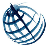 Schizzo dell'illustrazione del globo Fotografia Stock