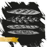 Schizzo dell'illustrazione di vettore - forno Immagini Stock