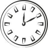 Schizzo dell'orologio Fotografia Stock Libera da Diritti