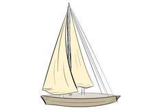 Schizzo della barca a vela Fotografie Stock