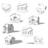 Schizzo della casa astratta Fotografia Stock Libera da Diritti