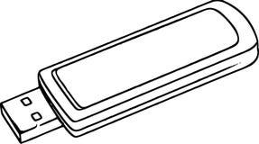 Schizzo della chiavetta USB Fotografie Stock