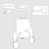 Schizzo della compressa illustrazione vettoriale