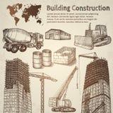 Schizzo della costruzione di edifici Fotografia Stock Libera da Diritti