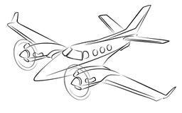 Schizzo della fodera di passeggero illustrazione vettoriale