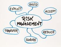 Schizzo della mappa di mente della gestione dei rischi Immagine Stock