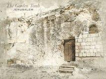 Schizzo della tomba del giardino, Gerusalemme illustrazione di stock