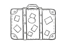 Schizzo della valigia Fotografie Stock Libere da Diritti