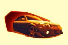 Schizzo delle automobili veloci Immagini Stock Libere da Diritti