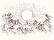 Schizzo di aumento di Sun illustrazione vettoriale