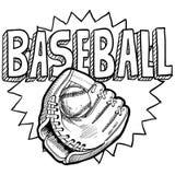 Schizzo di baseball Immagine Stock