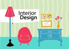 Schizzo di interior design Immagine Stock