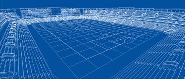 Schizzo di stadio di football americano royalty illustrazione gratis