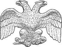 Schizzo di un'aquila a due punte imperiale royalty illustrazione gratis