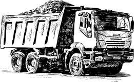 Schizzo di un camion pesante royalty illustrazione gratis