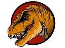 Schizzo di una testa del dinosauro con una bocca aperta tyrannosaur illustrazione vettoriale