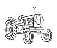 Schizzo di vecchio trattore illustrazione vettoriale