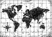 Schizzo di vettore della mappa di lerciume Immagine Stock Libera da Diritti