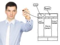 Schizzo di web design Immagine Stock