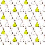 Schizzo disegnato a mano della pera Priorità bassa senza giunte della natura Alimento biologico fresco Fotografia Stock Libera da Diritti