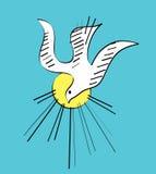 Schizzo e disegno dell'icona di Spirito Santo Immagine Stock Libera da Diritti