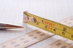 Schizzo e misurare Fotografia Stock Libera da Diritti